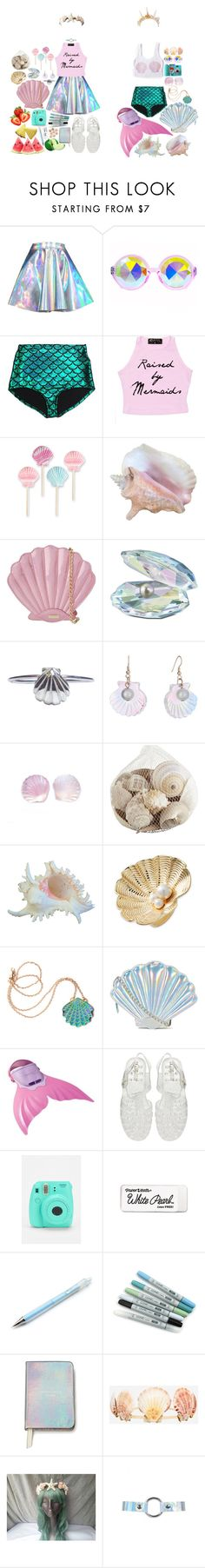 """Adopted by mermaids"" by sw-13 ❤ liked on Polyvore featuring H0les, Skinnydip, Swarovski, momocreatura, Tatty Devine, Pier 1 Imports, Kate Spade, Rosita Bonita, New Look and Fujifilm"