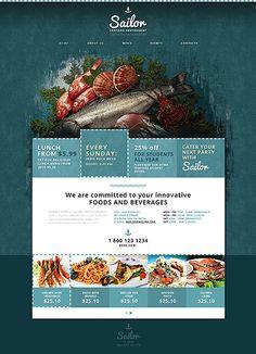 Plantilla Web Responsive para Sitio de Restaurante de mariscos