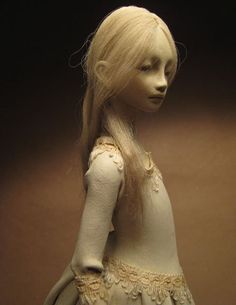 OOAK paperclay doll -