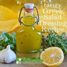 Tangy Greek Salad Dressing Recipe - Wellness Mama ( a great dressing and a sappy love story)