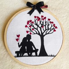 Embroidery Hoop Decor, Hand Embroidery Patterns Free, Wedding Embroidery, Hand Embroidery Videos, Creative Embroidery, Hand Embroidery Designs, Diy Embroidery, Handmade Wedding Gifts, Fabric Paint Designs