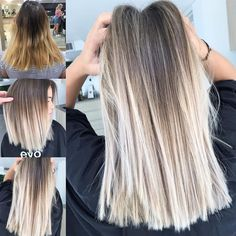 No photo description available. Best Picture For ash blonde hair colour For Your Taste You are looki Ash Blonde Hair Balayage, Blonde Hair Looks, Ombre Hair Color, Dyed Hair, Wavy Hair, Hair Inspiration, Hair Inspo, Short Hair Styles, Hair Beauty