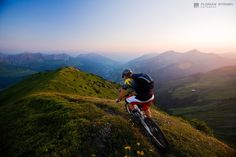 The view every mountain biker lives for.
