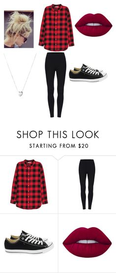"""Untitled #6"" by dark-soul335 ❤ liked on Polyvore featuring H&M, Converse, Lime Crime and Links of London"