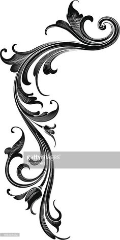 Clipart vectoriel : Flux Arabesque NOIR