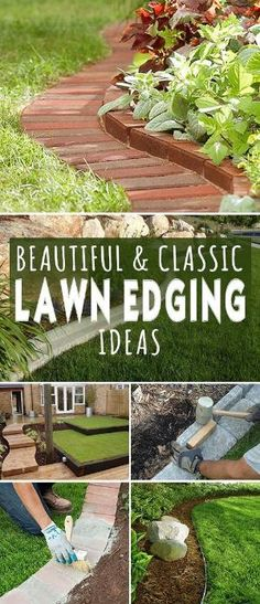 Check out all these great ideas, projects and tutorials on how to get that classic and professional edged garden and lawn look for your home! • Beautiful & Classic Lawn Edging Ideas! #lawnedgingideas #lawnedging #DIY #DIYlawnedging #DIYlawnedgingprojects #bricklawnedging #DIYbricklawnedging #DIYbrickedging #Diygardenprojects #gardening by flossie