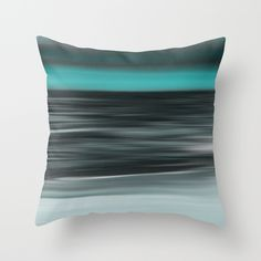 Beautiful art accents.  ocean, sea, seascape, shore, seashore, coastal, water, waves, nature, horizon, sky, abstract, green, black,
