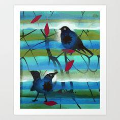 winter birds II Art Print by Randi Antonsen - $18.00