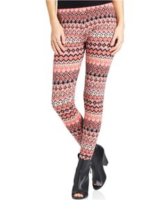 Material Girl Juniors' Printed Leggings - Juniors Leggings & Pants - Macy's