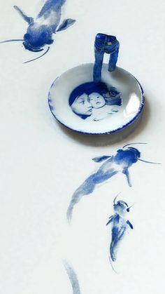 Kim Joon  blue jean blues-sailing 40cm x 71cm   digital print  2012