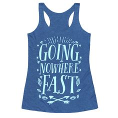 """Going Nowhere Fast - You'll be a true hippie with this nature t shirt, sure to inspire you to travel on your next road trip or your next camping trip. With wanderlust imagery and the words """"Going Nowhere Fast"""" this road trip shirt is great for fans of camping, nature, the outdoors, hippie fashion, road trips, road trip quotes and wanderlust quotes."""