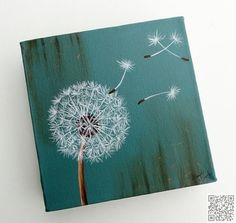 10. #Robin Egg Blue Dandelion #Fluff - 31 Paintings You Can Copy for Your Own #House ... → DIY #Flowers