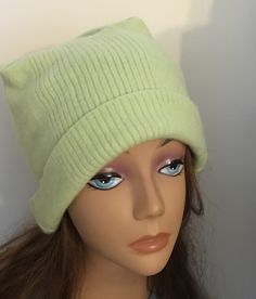 A personal favorite from my Etsy shop https://www.etsy.com/listing/265130199/girl-cashmere-hat-lime-green-felted