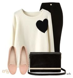 Heart Sweater by coombsie24 on Polyvore featuring WithChic, Witchery and Diane Von Furstenberg