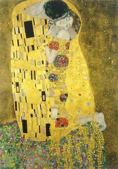[Gustav Klimt] - The Kiss -  Arts in Women and Sex,Alive and Dead, for more please visit http://www.painting-in-oil.com/artworks-Klimt-Gustave-page-1-delta-ALL.html