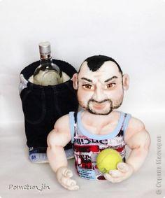 Куклы 23 февраля День рождения Шитьё Кукла Спортсмен мини-бар Капрон Мех фото 2