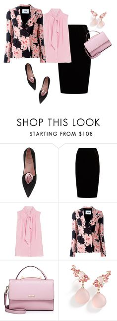 """""""Untitled #1381"""" by mk-style ❤ liked on Polyvore featuring Roger Vivier, Jupe By Jackie, Oscar de la Renta, MSGM, WithChic and Brumani"""
