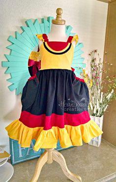 GoGo Tomago - Disney inspired flutter strap dress - sizes 12/18months through 9/10