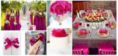 #boda #fucsia #decoración #ideas