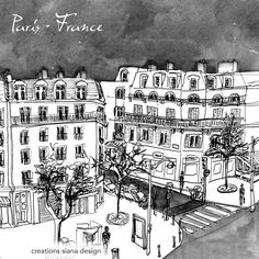 Design by siana design creations Paris France, Illustrations, Logo Creation, Travel Agency, Paris, Illustration, Illustrators, Paintings
