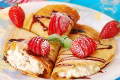Pancakes strawberry