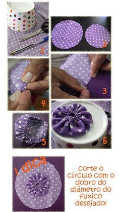 Fabric flower tutorial how to make fabric flowers – Artofit Handmade Flowers, Diy Flowers, Fabric Flowers, Sewing Crafts, Sewing Projects, Yo Yo Quilt, Fabric Flower Tutorial, Techniques Couture, Homemade Valentines