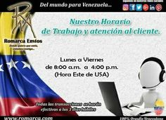 Nuestro horario de atención y atención al cliente.  #Clientes #Venezuela #Chile #Brasil #Italia