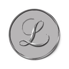 Shop Silver Formal Wedding Monogram L Seal RSVP Invite created by TDSwhite. Cool Typography, Cool Lettering, Mother Daughter Tattoos, Tattoos For Daughters, Names Beginning With L, L Names, Wedding Stickers, Monogram Wedding, Invitations