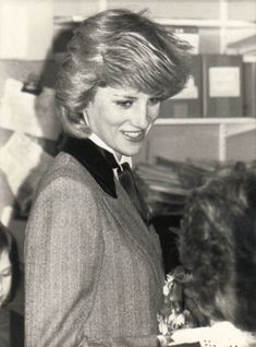 1984-03-07 Diana visits the Lisson Grove Health Centre to view a display on a Rubella German Measles Vaccine Programme