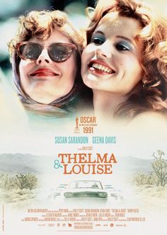 Geena Davis and Susan Sarandon in Thelma & Louise Movies And Series, Cult Movies, Movies To Watch, Movies And Tv Shows, Martin Scorsese, Brad Pitt, Stanley Kubrick, Thelma And Louise Movie, Alfred Hitchcock