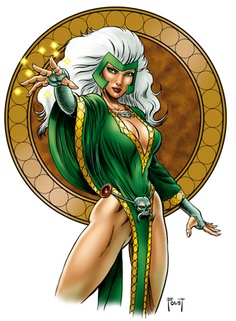 Enchantress is an Asgardian goddess who is extremely experienced in the use of magic and is also skilled at seduction through supernatural means. She has been both an ally and an enemy to Thor, although she often chooses the latter.