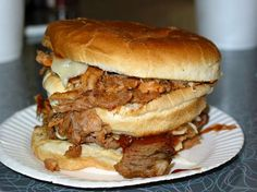 """Abe's BBQ  Clarksdale, MS  """"The jumbo double-decker pork sandwich, known as a Big Abe, is made like pig sandwiches in Memphis: filled with slaw as well as meat.""""   Michael Stern"""