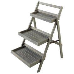Scaffale a scala da giardino grigio ETRETAT