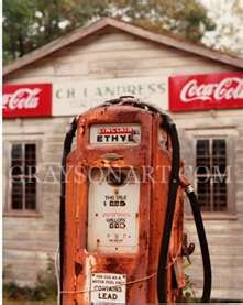 ,Vintage Gas Station Pump