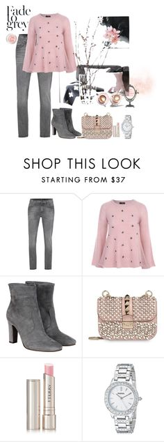 """""""Fade to Grey"""" by dyanjoy ❤ liked on Polyvore featuring mode, 7 For All Mankind, Jane Norman, L'Autre Chose, Martha Stewart, Valentino, By Terry, FOSSIL, women's clothing en women"""