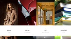 Site #scrolling #horizontal. Très #visuel  - www.nerval.ch -  #Webdesign #UI #Web