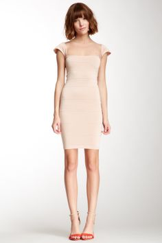Cap Sleeve Bandage Dress// I'd give this look a go. Love the shoes. <3