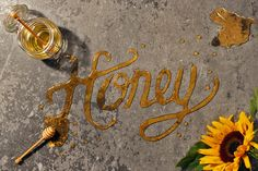 Sainsbury's 'Twist your favourites' food typography on Behance #honey
