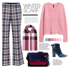 """""""Wrapper's Delight: Winter Scarf"""" by pure-vnom ❤ liked on Polyvore featuring Tory Burch, Burberry, Marni, self-portrait and winterscarf"""