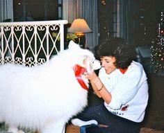 Karen Carpenter and friend, Christmas 1981