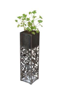 macetero, flowerpot, design, birds, plantas, diseño, exclusivo, ironpig, esquinero, cuadrado, macetero alto, rincón, decoración, jardín, terraza