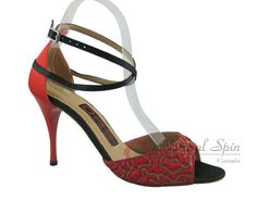Natural Spin Tango Salsa Shoes/Tango Shoes/Fashion Shoes(Open Toe):  T1102-37_Dr
