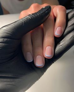 Neutral Nails, Nude Nails, Nail Manicure, French Tip Manicure, Chic Nails, Trendy Nails, Swag Nails, Colored French Tips, Mens Nails