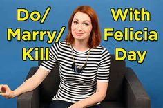 """Felicia Day Plays A Nerdy Game Of """"Do, Marry, Kill"""""""