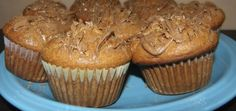 PEANUT BUTTER MUFFINS WITH CHOCOLATE DRIZZLE