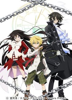 Pandora Hearts is an adventure, fantasy, and Alice-in-Wonderland themed anime that revolves around the adventures and mishaps of Oz Vessalius and Alice. Description from un-wiredtv.com. I searched for this on bing.com/images