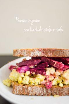 Beet salad and scrumble tofu sandwich #vegan #sandwich