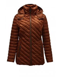Barbara Lebek quilted jacket AW2020 11080002 with detachable hood and full length front zip machine washable is in the new season collection at Irish Handcrafts Long Jackets, Winter Jackets, Irish Fashion, Quilted Jacket, High Collar, Fashion Outfits, Zip, Clothing, Shopping