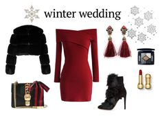 """""""Winter Wedding Of Bestie"""" by strawberrymilkshake93 on Polyvore featuring moda, Chicwish, Gianvito Rossi, Givenchy, Gucci ve Christian Dior"""