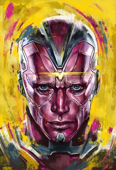 The Vision is a fictional superhero appearing in American comic books published by Marvel Comics. He is an android and a member of the Avengers who first appeared in The Avengers He is loosely based on the Timely Comics character of the same name Marvel Avengers, Marvel Comics Art, Marvel Comic Books, Marvel Characters, Marvel Heroes, Marvel Movies, Marvel Vision, Comic Sans, Vision Art